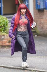 CHELSEE HEALEY on the Set of Hollyoaks in Liverpool 12/15/2017