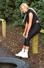 CHLOE FERRY Working Out in Teesside 12/07/2017