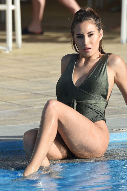 CHLOE GOODMAN in Bikini at a Pool in Malta 12/23/2017