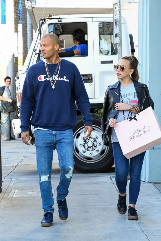 CHLOE GREEN and Jeremy Meeks Out in Los Angeles 12/15/2017