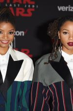 CHLOE x HALLE at Star Wars: The Last Jedi Premiere in Los Angeles 12/09/2017