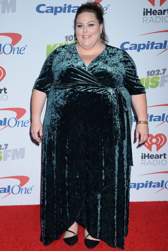 CHRISSY METZ at Kiis FM's Jingle Ball in Los Angeles 12/01/2017