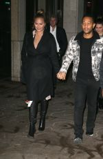 CHRISSY TEIGEN and John Legend Out in New York 12/12/2017
