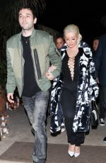 CHRISTINA AGUILERA at DJ Khaled Birthday Party in Beverly Hills 12/02/2017
