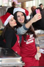 CHRISTINA DEROSA and NATASHA BLASICK at LA Mission Serves Christmas to the Homeless in Los Angeles 12/22/2017