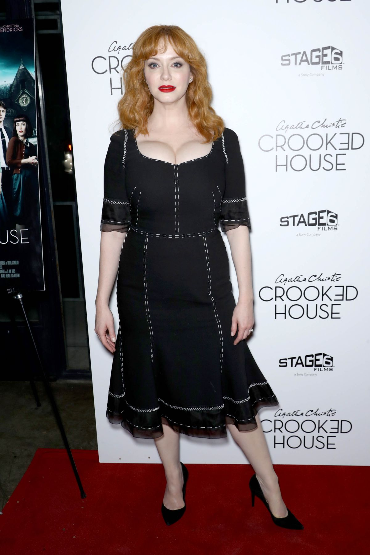 Christina Hendricks At Crooked House Premiere In New York
