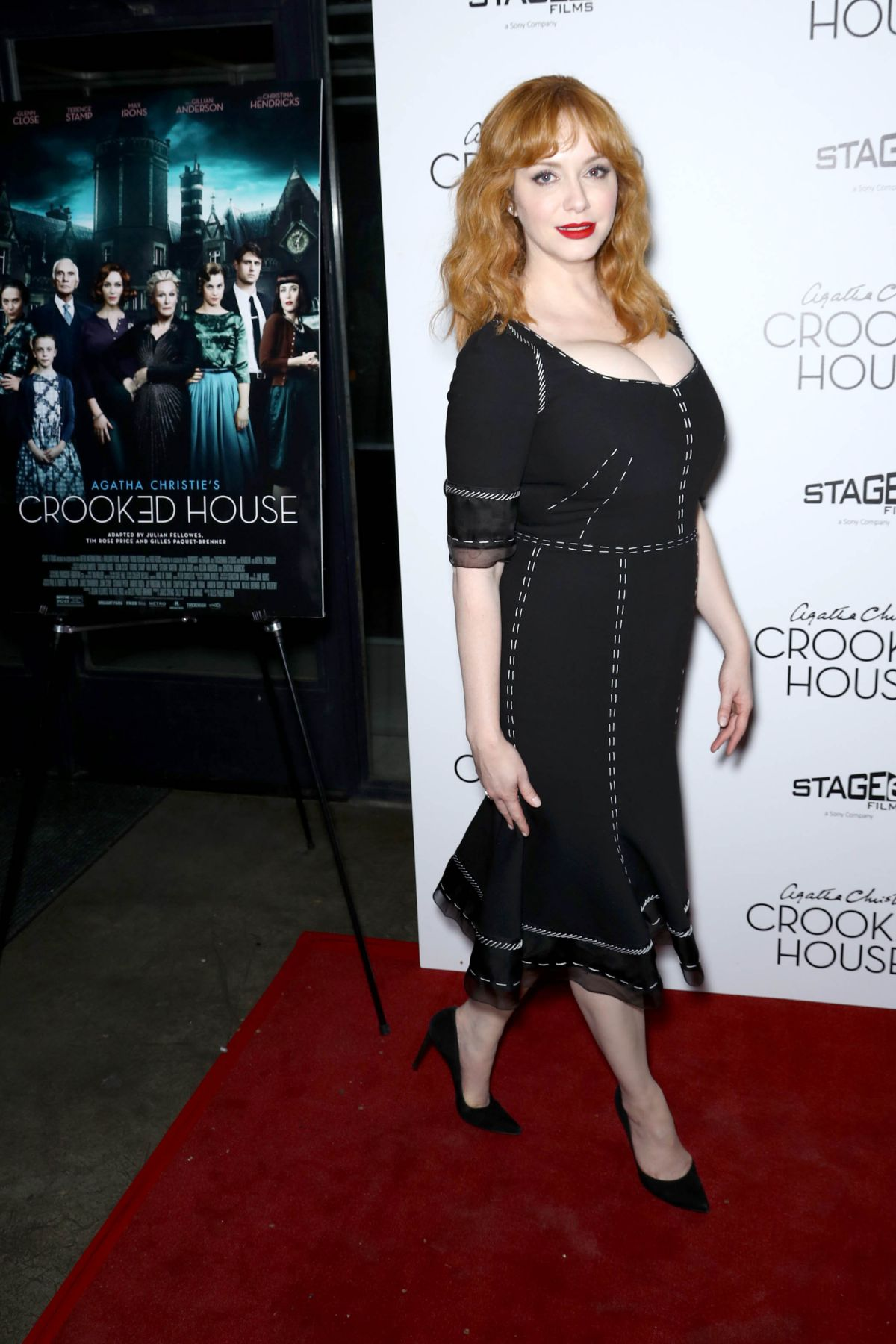 Christina hendricks at crooked house premiere in new york for Hendricks house