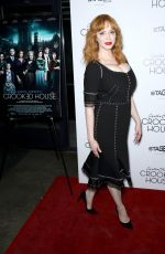 CHRISTINA HENDRICKS at Crooked House Premiere in New York 12/13/2017