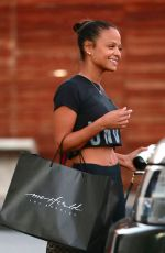 CHRISTINA MILIAN Out Shopping in West Hollywood 12/14/2017