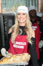 CHRISTINE EL MOUSS at LA Mission Serves Christmas to the Homeless in Los Angeles 12/22/2017
