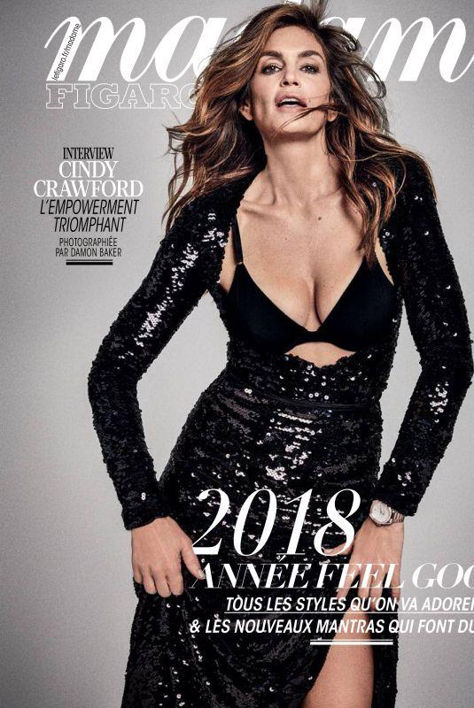 CINDY CRAWFORD in Madame Figaro Magazine, December 2017