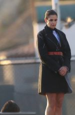CINDY CRAWFORD on the Set of a Photoshoot in Malibu 12/09/2017
