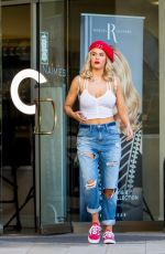 CJ LANA PERRY in Ripped Jeans Out and About in Los Angelese 12/04/2017