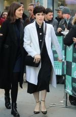 CLAIRE FOY Arrives at AOL Build Studio in New York 12/04/2017