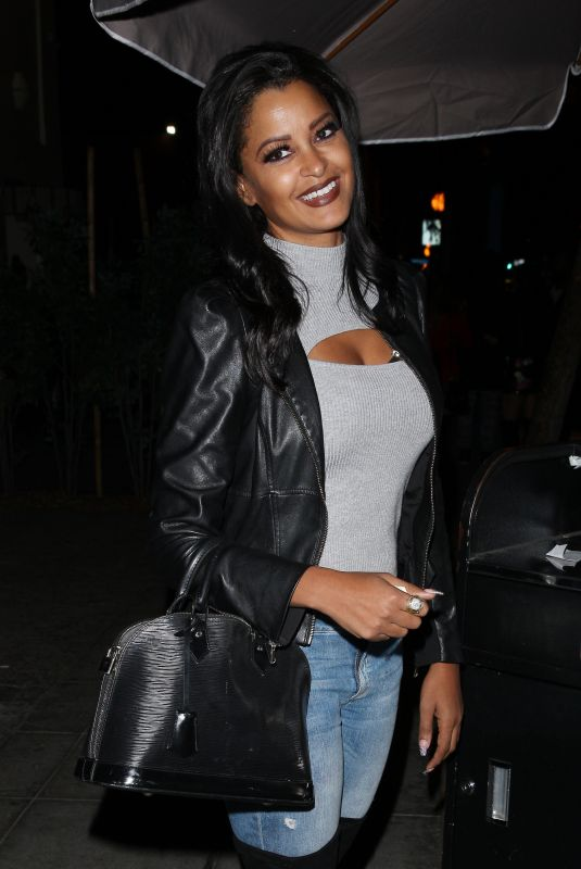 CLAUDIA JORDAN Out for Dinner at Delilah in West Hollywood 12/10/2017
