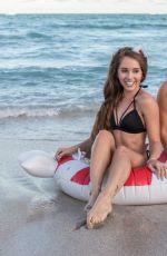 CLAUDIA ROMANI and MELISSA LORI in Bikinis at a Beach in Miami 12/23/2017