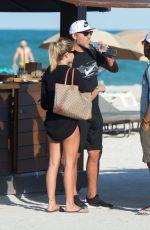 CONSTANZA CARACCIOLO in Bikini at a Beach in Miami 12/05/2017