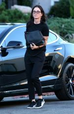 COURTENEY COX Out for Lunch at Nate