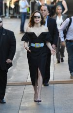 DAISY RIDLEY Arrives at Jmmy Kimmel Live! in New York 12/01/2017