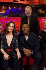 DAISY RIDLEY at Graham Norton Show in London 12/13/2017