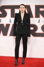 DAISY RIDLEY at Star Wars: The Last Jedi Photocall in London 12/13/2017