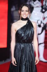 DAISY RIDLEY at Star Wars: The Last Jedi Premiere in London 12/12/2017