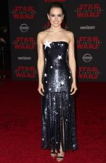 DAISY RIDLEY at Star Wars: The Last Jedi Premiere in Los Angeles 12/09/2017