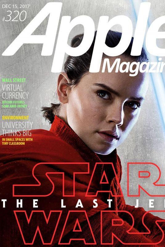 DAISY RIDLEY in Apple Magazine, December 2017