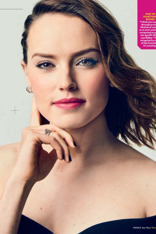 DAISY RIDLEY in People Magazine, December 2017 Issue