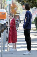 DAKOTA FANNING and Henry Frye Out for Lunch in Studio City 12/30/2017