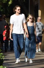 DAKOTA FANNING and Jamie Strachan Out in Los Angeles 12/28/2017