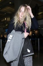 DAKOTA FANNING at LAX Airport in Los Angeles 12/19/2017