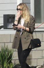 DAKOTA FANNING Leaves Her Home in Los Angeles 12/20/2017