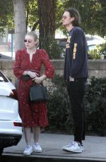 DAKOTA FANNING Out for Lunch in Studio City 12/30/2017