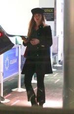 DAKOTA JOHNSON at LAX Airport in Los Angeles 12/13/2017