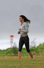 DARCIE LINCOLN Runnig on the Beach in Hawaii 12/28/2017