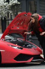DARIA RADIONOVA in Swarovski Chrystal Covered Lamborghini Out in London 12/24/2017