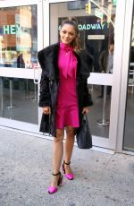 DEMI-LEIGH NEL-PETERS Arrives at AOL Build Series in New York 11/29/2017