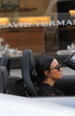 DEMI LOVATO Driving Out in Her Mercedes Coupe Out in Beverly Hills 12/24/2017