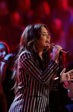 DEMI LOVATO Performs at The Voice Live Finale 12/19/2017