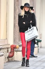DEVON WINDSOR Out Shopping in New York 12/19/2017