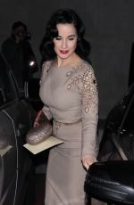 DITA VON TEESE at a Gallery Opening at Maxfield 12/16/2017