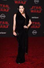 DITA VON TEESE at Star Wars: The Last Jedi Premiere in Los Angeles 12/09/2017