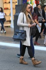 DOROTHY WANG Out at The Grove in Los Angeles 12/09/2017