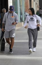 DRAYA MICHELE and Orlando Scandrick Out Shopping in Beverly Hills 12/19/2017