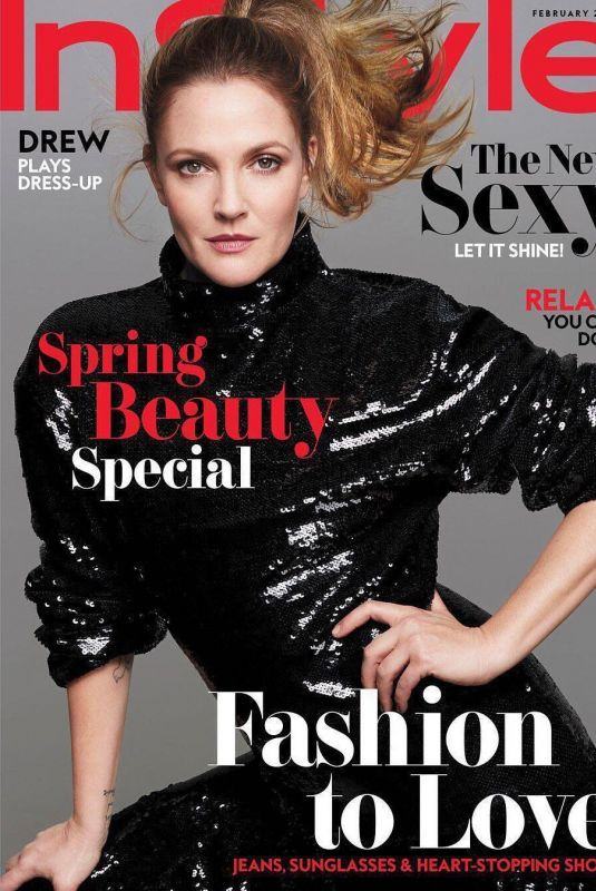 DREW BARRYMORE for Instyle Magazine, February 2018