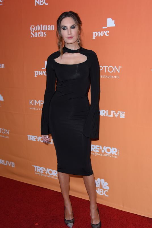 ELIZABETH CHAMBERS at Trevor Project's 2017 Trevorlive Gala in Los Angeles 12/03/2017