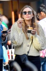 ELIZABETH OLSEN and Robbie Arnett Out for Ice Cream in Los Angeles 12/30/2017