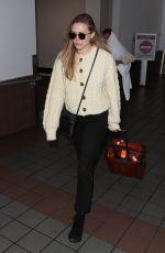 ELIZABETH OLSEN at LAX Airport in Los Angeles 12/01/2017