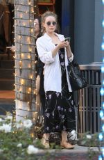 ELIZABETH OLSEN Shopping in Beverly Hills 12/18/2017
